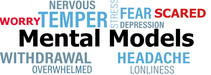 The specific mental model develops when we cease to be in contact with reality. We're identified as having psychological illnesses; put simply, we're loony